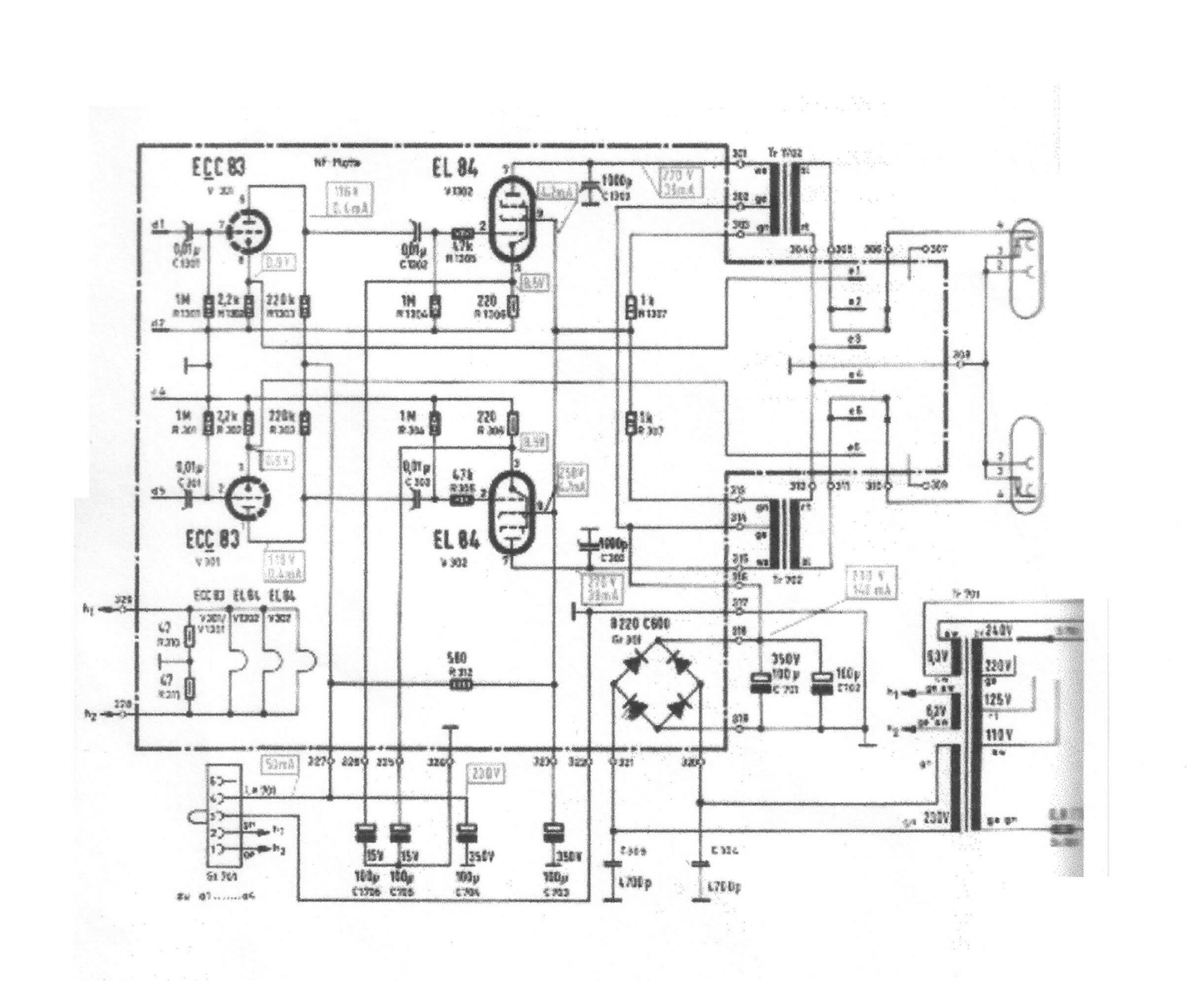 11 Amp Schematic Http Homeproviewcom Ecl82amplifierschematichtm Tube Classicsde Tc Germantubehifi Poweramps Telefunken202500 2500schematic